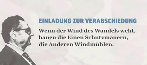 """wind des wandels"""" - verabschiedung von oberstudiendirektor, Einladung"""